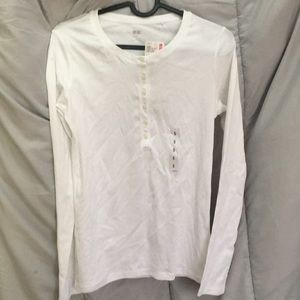Tops - Plain White Long Sleeve